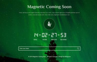 Magnetic Coming Soon Flat Responsive Widget