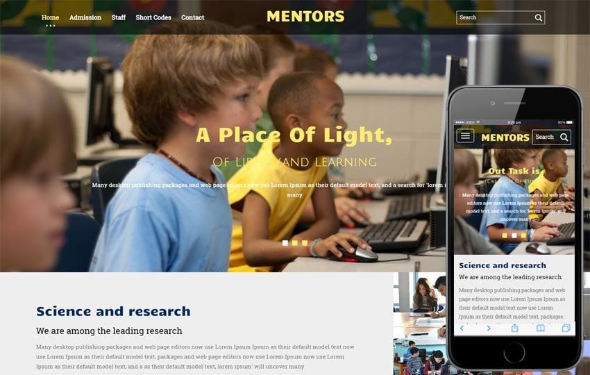Mentors a Education Category Flat Bootstrap Responsive Web Template
