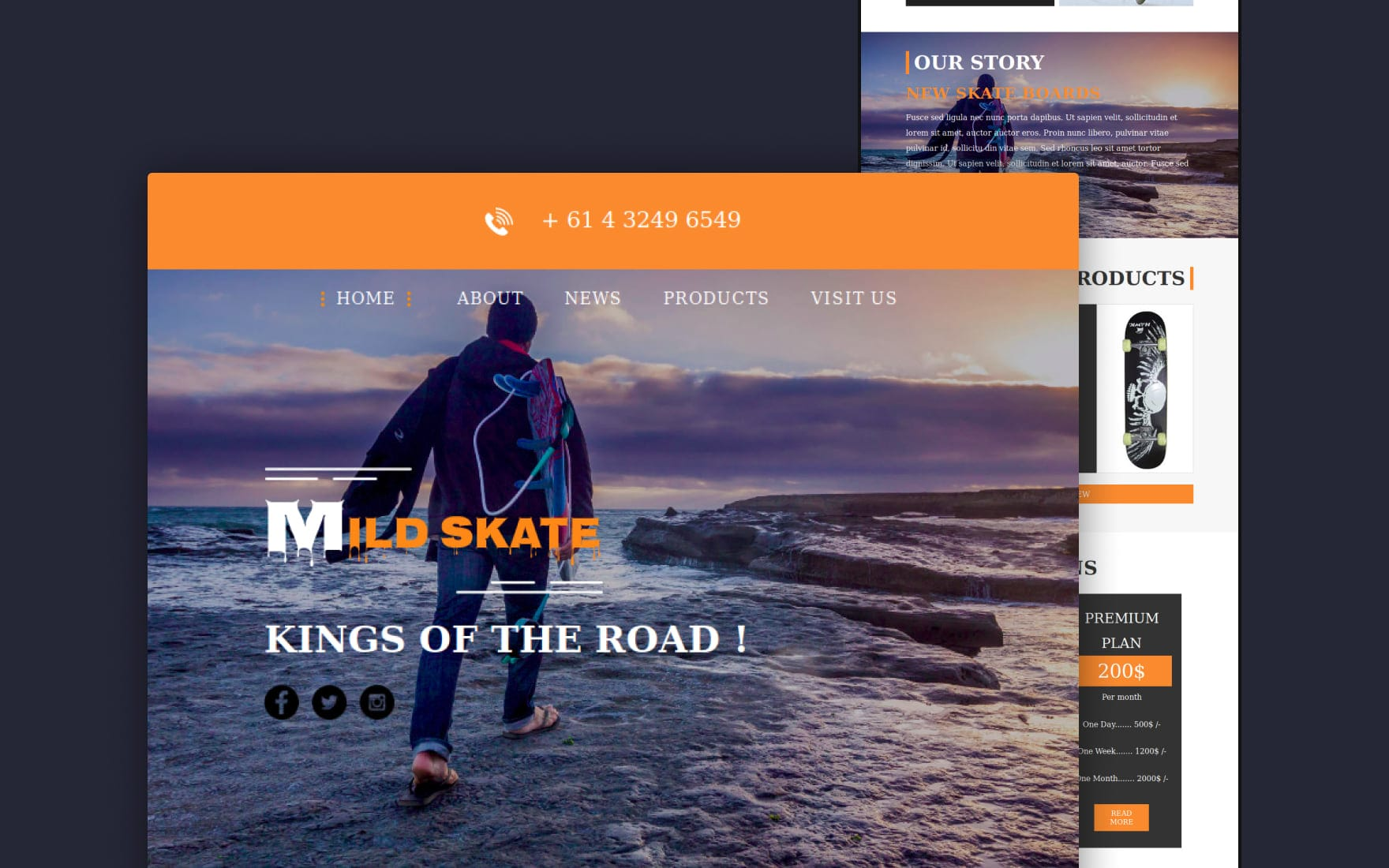 Mild Skate a Newsletter Template