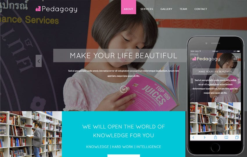 Pedagogy a Education Category Flat Bootstrap Responsive Web Template