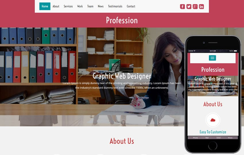 Profession a Corporate Business Category Flat bootstrap Responsive  Web Template