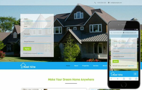 Real Site a Real Estate Category Bootstrap Responsive Web Template
