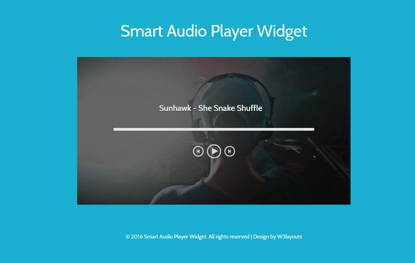 Smart Audio Player Widget Flat Responsive Widget Template