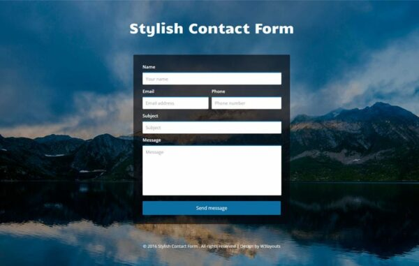 Stylish Contact Form