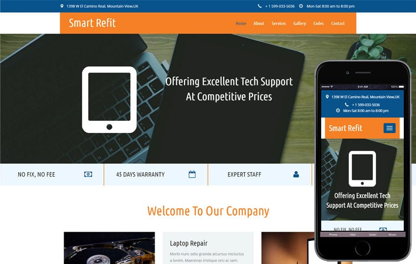 Smart Refit a Corporate Category Flat Bootstrap Responsive  Web Template
