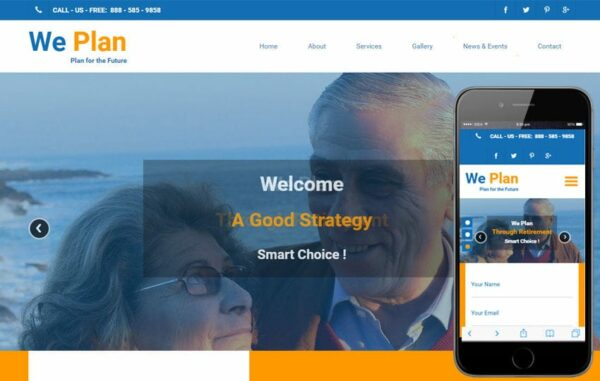 We Plan a Society and People Bootstrap Responsive web Template