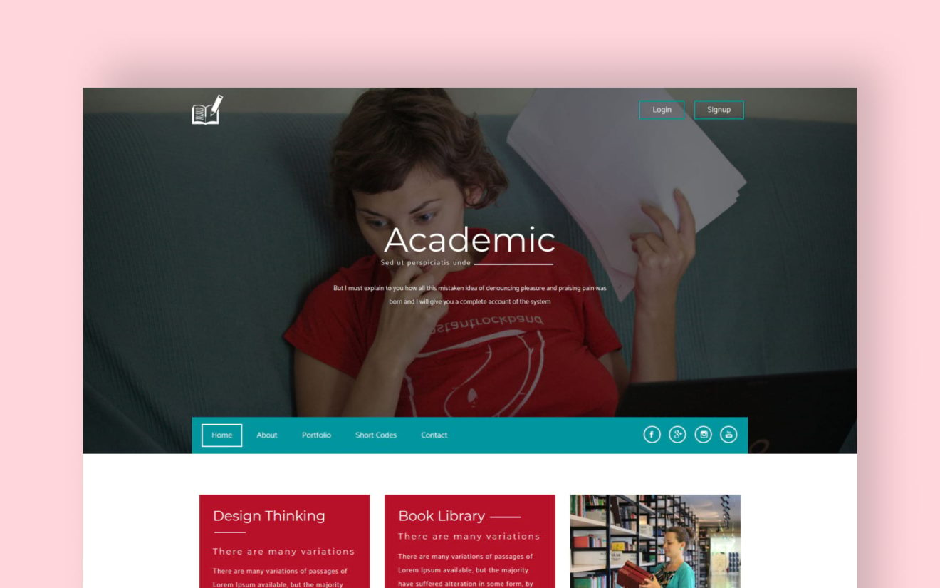 Academic A Education Category Flat Bootstrap Responsive Web Template