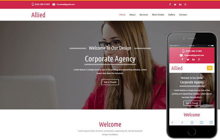 Allied a corporate Category Flat Bootstrap Responsive  Web Template