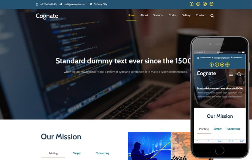 Cognate a Corporate Business Category Flat Bootstrap Responsive Web Template