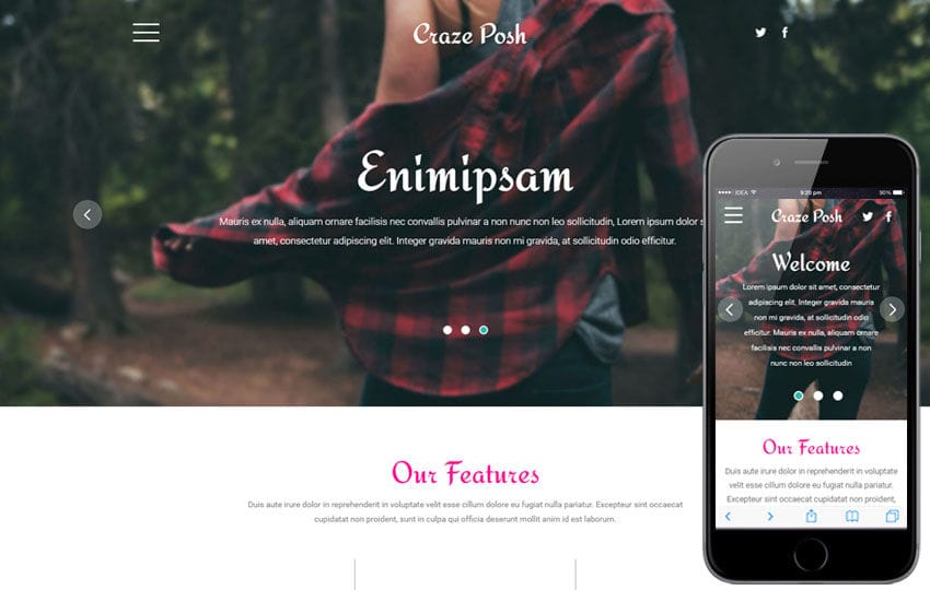 Craze Posh a Fashion Category Flat Bootstrap Responsive web Template