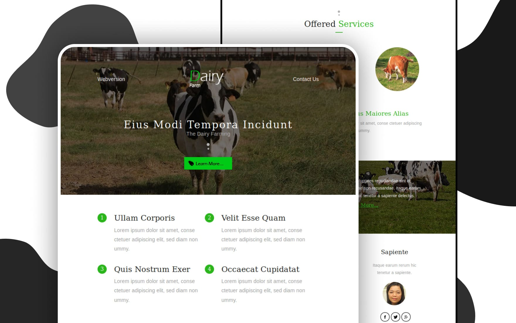 Dairy Farm An Agriculture Category Email Template