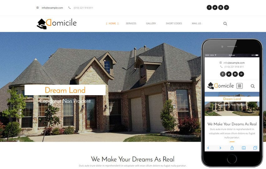 Domicile a Real Estate Category Flat Bootstrap Responsive Web Template