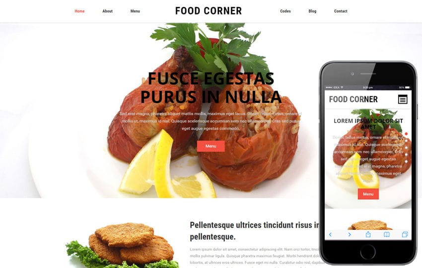 Food Corner a Restaurant Category Flat Bootstrap responsive Web Template
