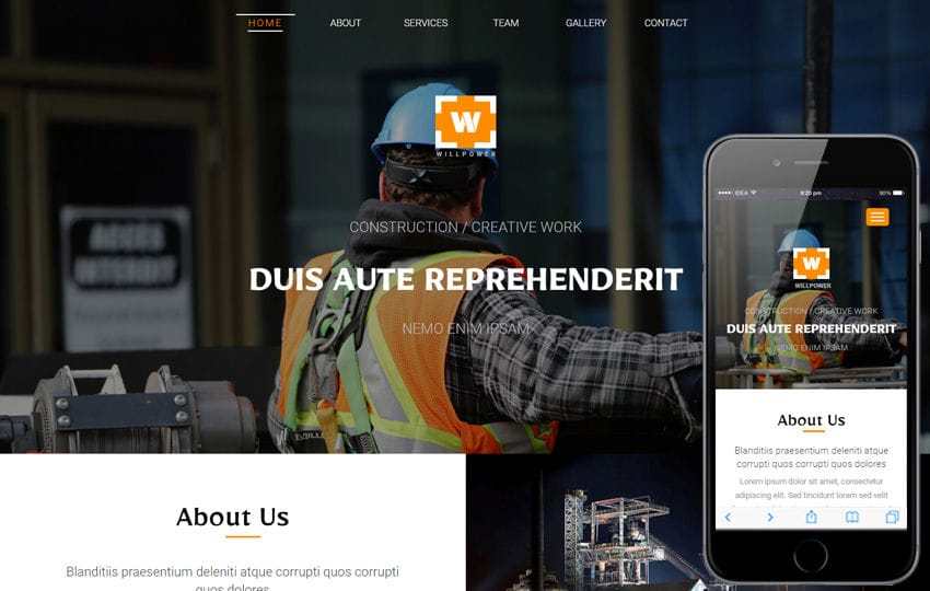 Willpower an Industrial Category Flat Bootstrap Responsive web Template
