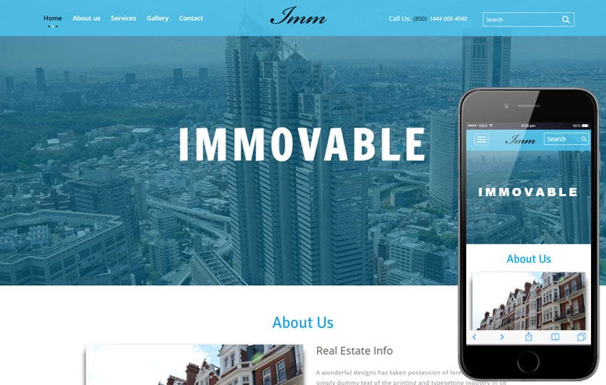 Immovable a Real Estate Category Flat bootstrap Responsive web Template