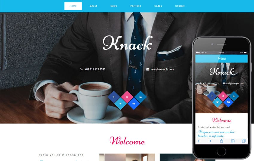 Knack a Corporate Business Category Flat Bootstrap Responsive Web Template