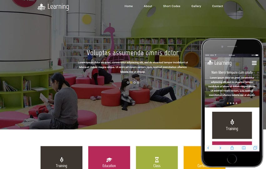 Learning An Education Category Flat Bootstrap Responsive Web Template