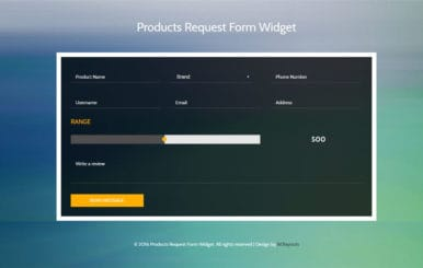 Products Request Form Widget Flat Responsive Widget Template