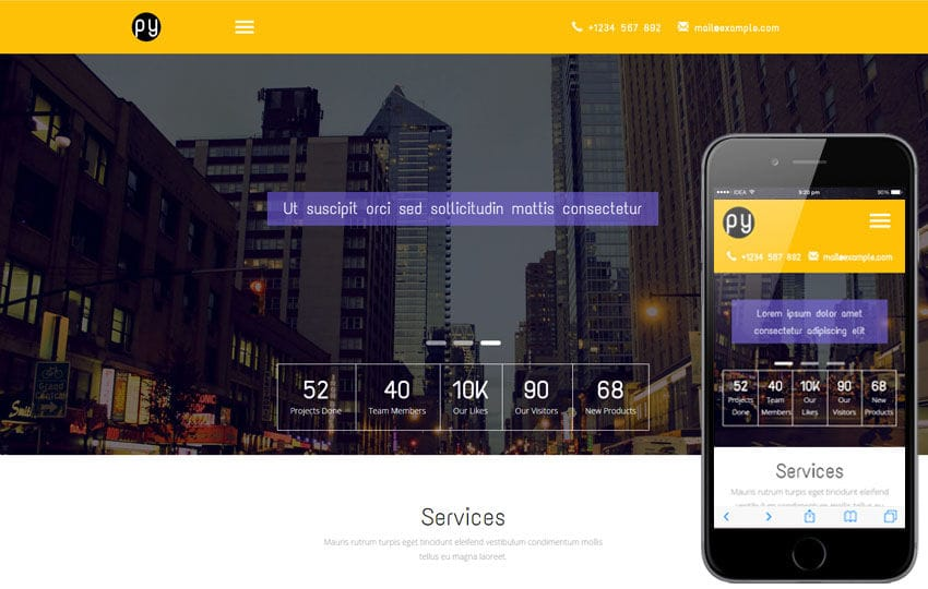 Py a Corporate Category Flat Bootstrap Responsive Web Template