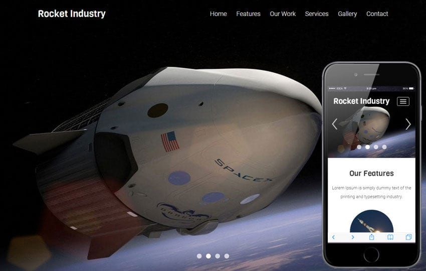 Rocket Industry A Industrial Category Flat Bootstrap Responsive Web Template