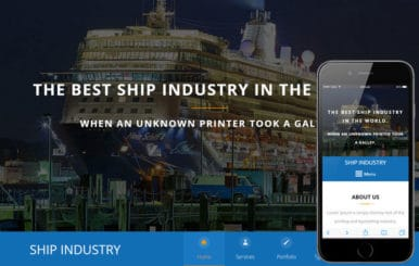 Ship Industry A Industrial Category Flat Bootstrap Responsive Web Template