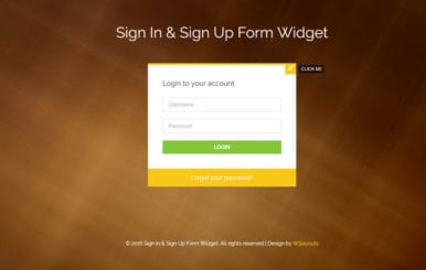 Sign In and Sign Up Form Flat Responsive Widget Template