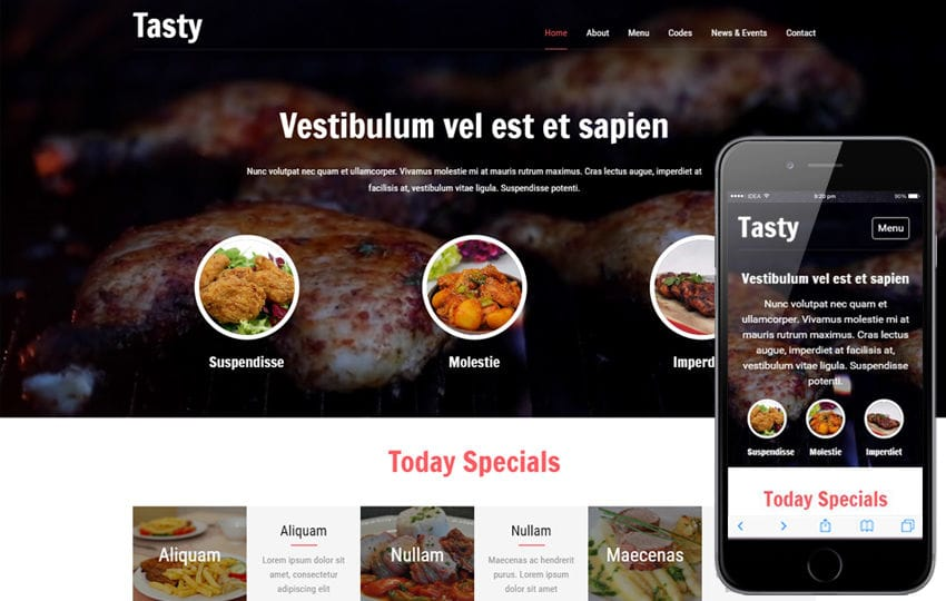 Tasty a Restaurants Category Flat Bootstrap responsive Web Template