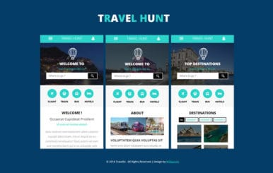 Travel Hunt a Mobile App Flat Bootstrap Responsive Web Template