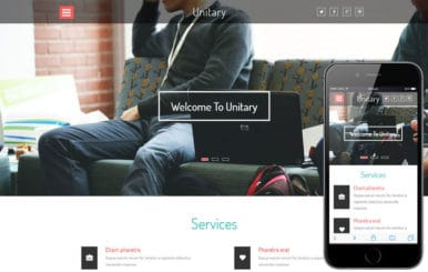 Unitary a Corporate Category Flat Bootstrap Responsive web Template
