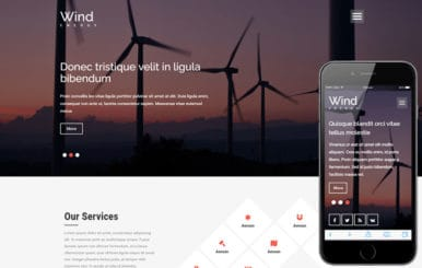 Wind Energy a Industrial Category Flat Bootstrap responsive Web Template