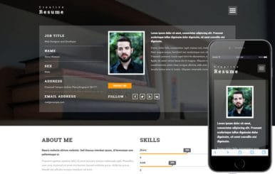 Creative Resume a Personal  Category Bootstrap responsive Web Template