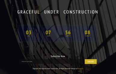 Graceful Under Construction Responsive Widget Template