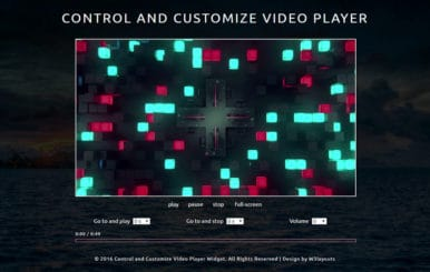 Control and Customize Video Player Responsive Widget Template