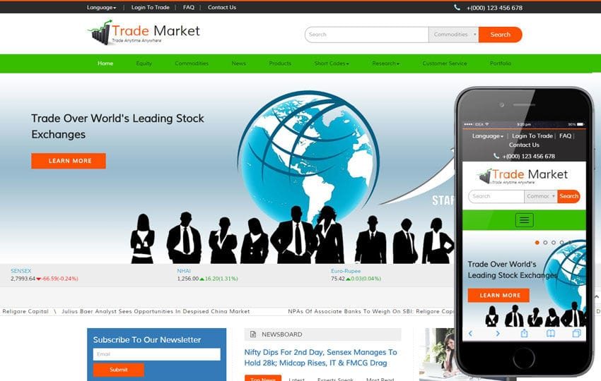 Trade Market a Corporate Business Bootstrap Responsive Web Template