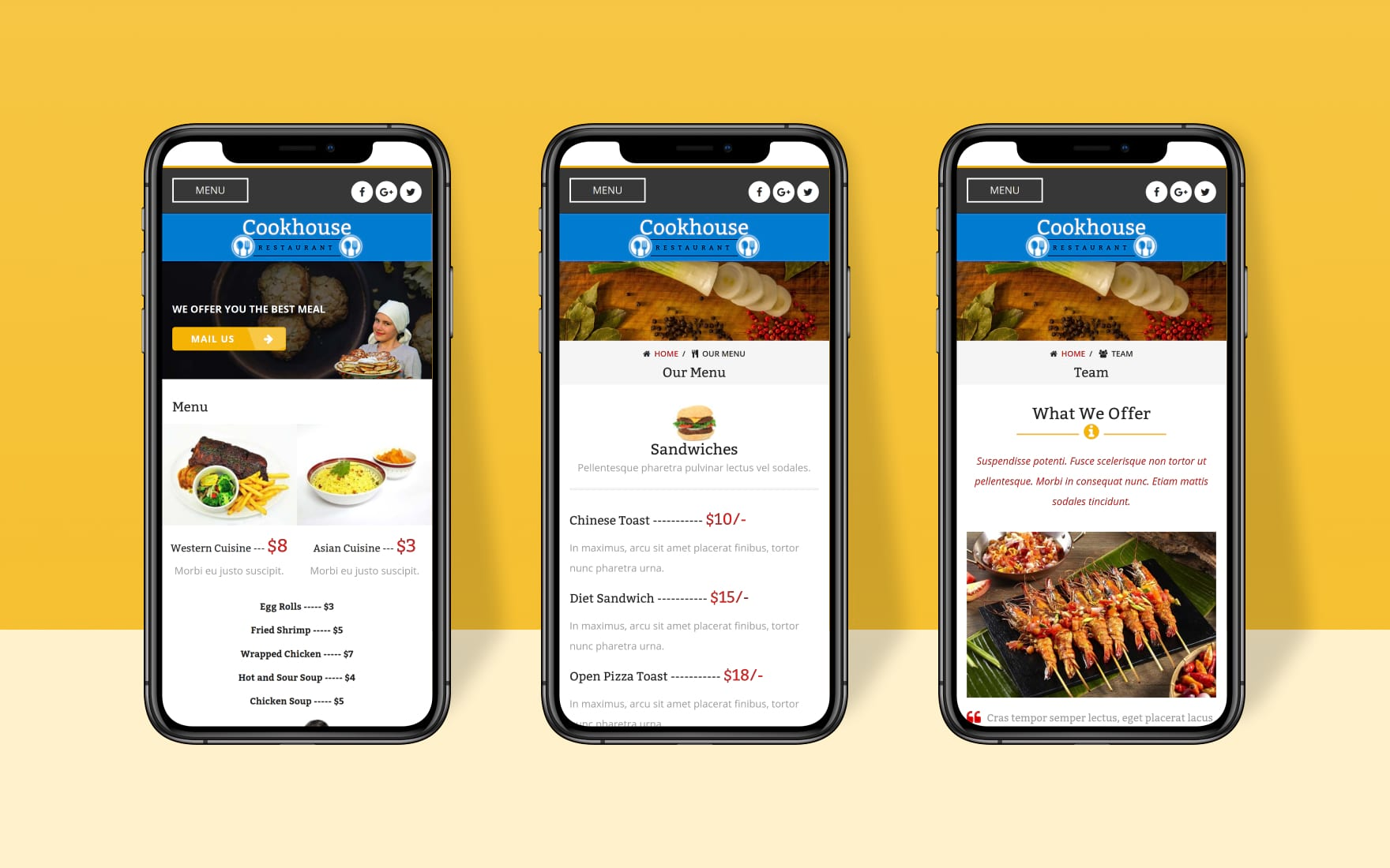 Cookhouse a Mobile App Bootstrap Responsive Web Template