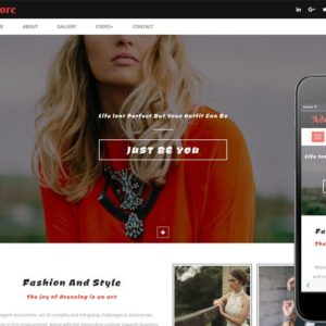 Adore a Fashion Category Bootstrap responsive Web Template