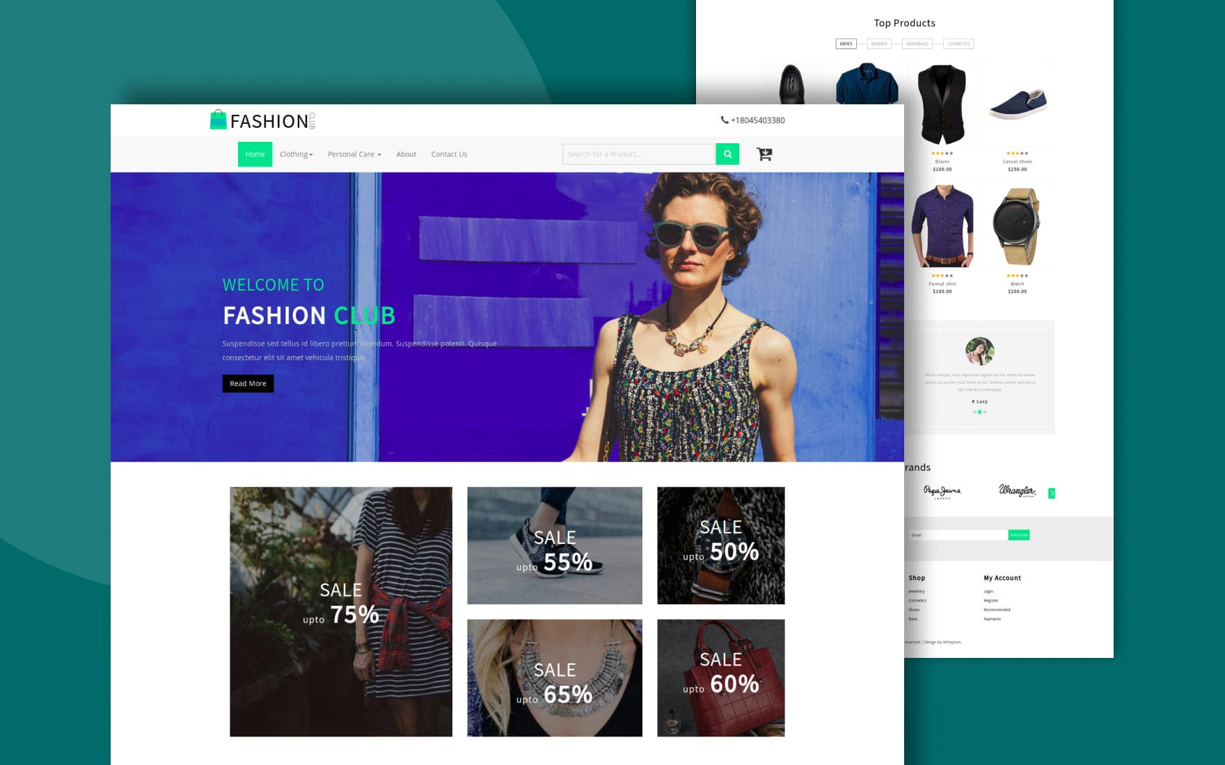Fashion Club an Ecommerce Online Shopping Bootstrap responsive Web Template