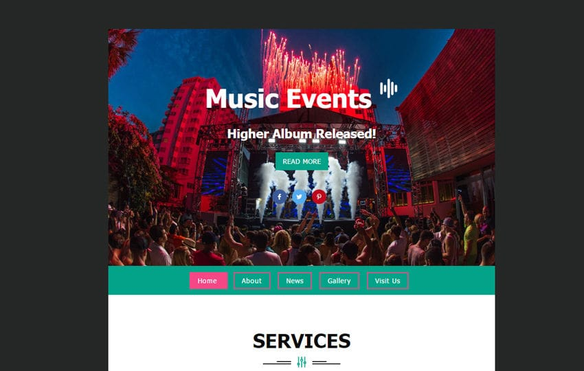 Music Events Template a News Letter Template
