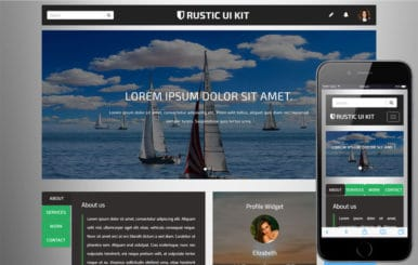 Rustic UI Kit A  User Interface Bootstrap Responsive Web Template