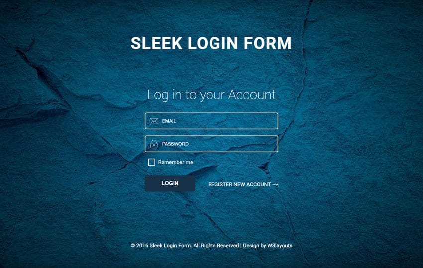 Sleek Login Form A Responsive Widget Template