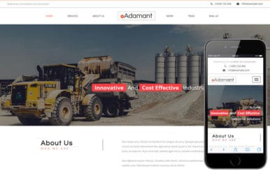 Adamant an Industrial Category Flat Bootstrap Responsive Web Template