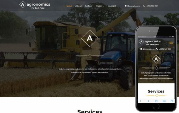 Agronomics an Agriculture Category Flat Bootstrap Responsive Web Template
