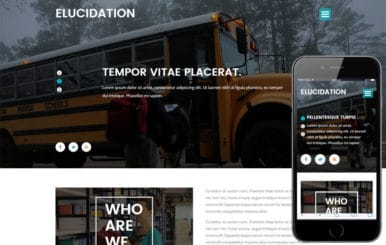 Elucidation an Education School Flat Bootstrap Responsive Template