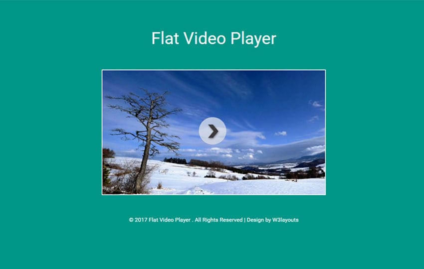 Flat Video Player Responsive Widget Template