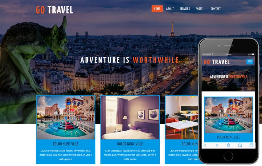 Go Travel a Travel Category Flat Bootstrap Responsive Web Template
