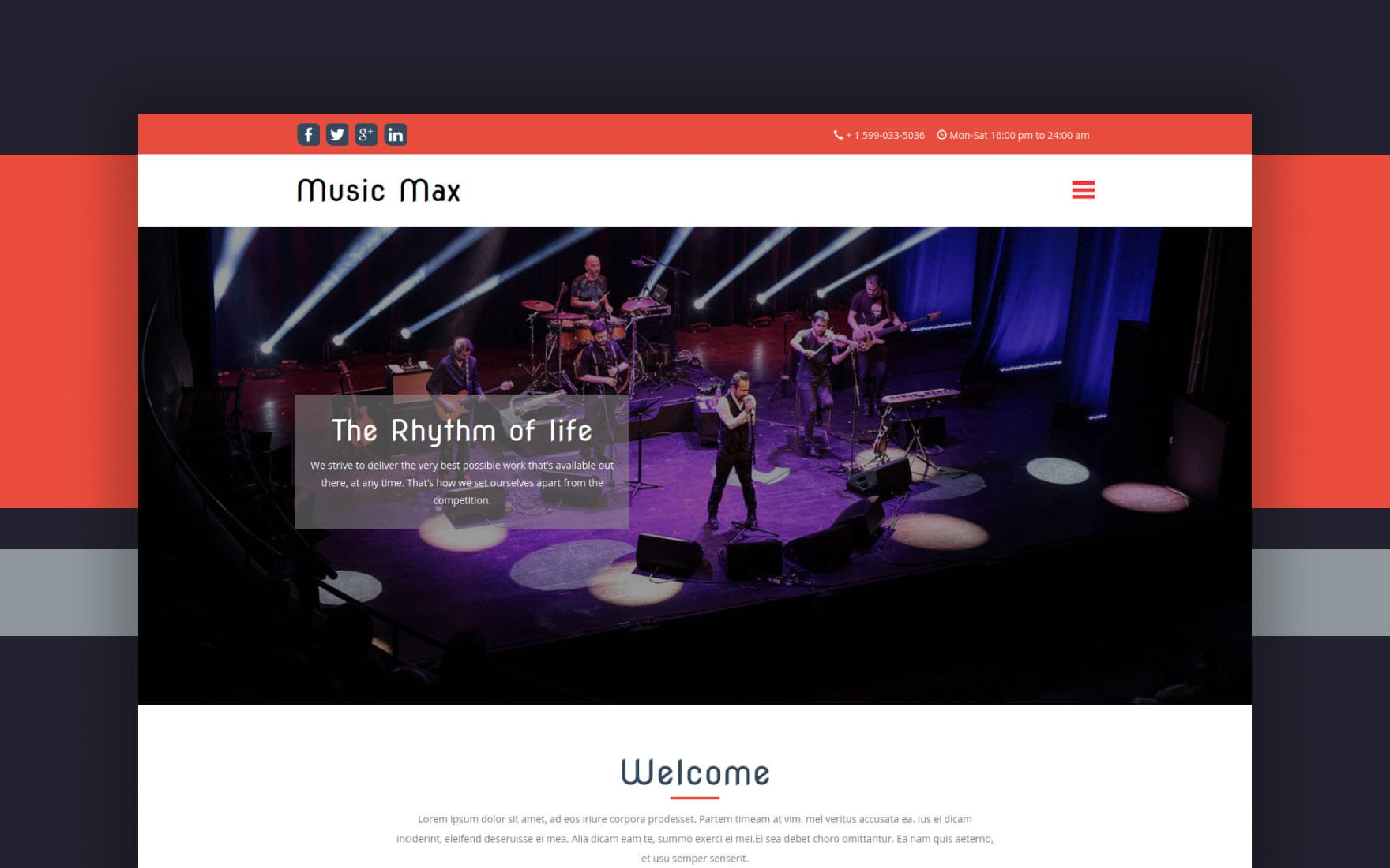Music Max a Entertainment Category Flat Bootstrap Responsive Web Template