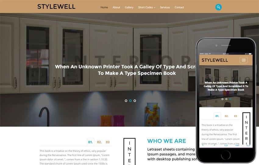 Stylewell an Interior Category Flat Bootstrap Responsive Web Template