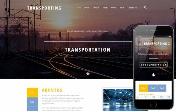 Transporting an industrial Category Flat Bootstrap Responsive Web Template