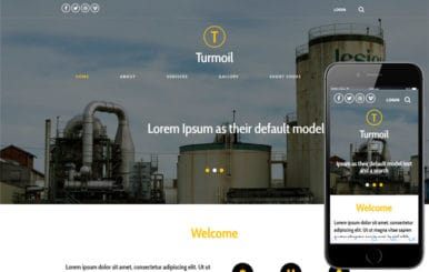Turmoil an Industrial Category Flat Bootstrap Responsive Web Template