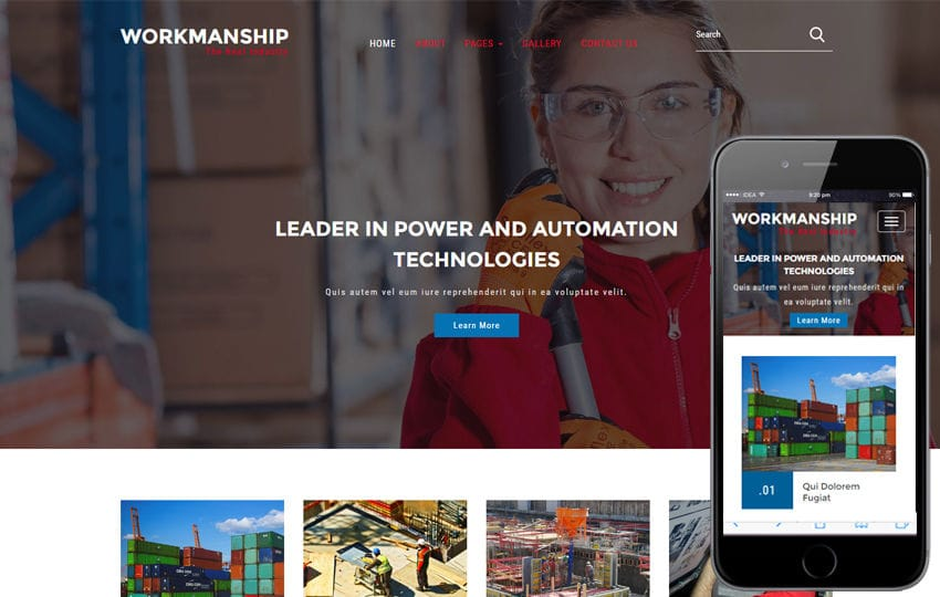 Workmanship an Industrial Category Flat Bootstrap Responsive Web Template